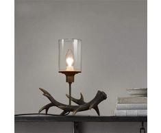 LAMPADE JM American Retro Creative Decoration Camera da Letto Soggiorno Comodino Candelabro (Colore : A)