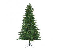 Black Box Trees 385786 - Albero di Natale artificiale Milton Spruce con illuminazione a LED, altezza 185 cm, ø 112 cm, 898 rami, 200 luci, colore: Verde