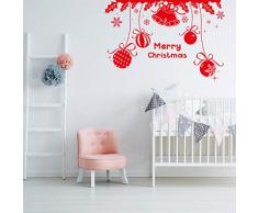 Ornamenti natalizi, campane, vetrina di Natale, adesivi murali, voci intagliate europee e americane, adesivi murali, poesie inglesi