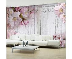 murando Carta da parati 400x280 cm Fotomurali in TNT Murale alla moda Decorazione da Muro XXL Poster Gigante Design Carta per pareti Fiori legno tavole b-A-0202-a-b
