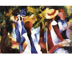 1art1 August Macke - Girls Under Trees Poster Stampa Geante XXL (120 x 80cm)