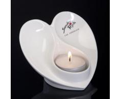 Portacandele ANGEL cuore portacandele candeliere portacandele in porcellana