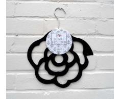 Porta Sciarpe - Rosa Nero Appendiabiti per Sciarpa - Regalo Ideale per la Festa della Mamma!
