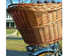 Dyto - Cestino in vimini da bicicletta