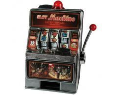 Salvadanaio A Forma Di Slot Machine Funzionante A Pile - Per Ritirare Il Denaro Devi Vincere Davvero Il Jackpot - Idea Regalo