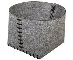 RAYHER cestino in feltro, FLIZ, pietra grigia, 46 x 22 x 1.8 cm, 4 unità