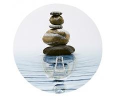 Wenko 20942100 - Gancio appendiabiti da parete, adesivo, motivo: meditazione