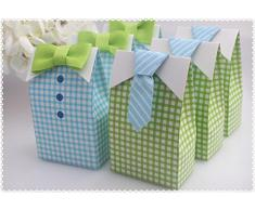 Kingsley 20pz Bow Tie + 20pz Cravatta Bomboniere Matrimonio Scatole Ambito Sposo Porta Confetti Segnaposto Regalo per Compleanno Battesimo Partito Regalo
