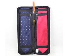 Extsud® Organizzatore da Viaggio Portacravatte, Organizer Tie Sacchetto Portatile di Cravatte in Nylon con Chiusura Lampo 42x13x2 cm (Nero)