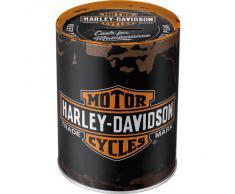 Nostalgic-Art retrò Harley-Davidson – – Idea Regalo per Amanti di Moto, Salvadanaio in Metallo, Scatola dei Soldi lamiera, 1 l