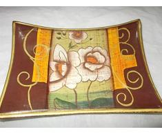 Svuotatasche svuota tasche in ceramica decorata artigianalmente (18x12)