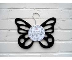 Porta Sciarpe - Farfalla Nero Appendiabiti per Sciarpa