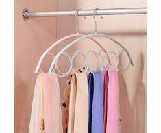 5 Porta sciarpa ad anello Scialle in plastica antiscivolo Sciarpa Appendiabiti Salvaspazio Organizzatore per guardaroba Sciarpe, Cravatte, Cinture o Altri accessori 1 pz