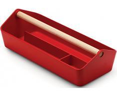 Alessi BG01 R Cargo Box Contenitore Multiuso, PMMA, Rosso, Acrilico, Estándar