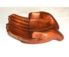 svuota tasche doppia mano in legno 25 cm