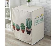 JRTILES Copertura Lavatrice per Esterno per Le Lavatrici&Asciugatrice Copri Lavatrice Crema Solare Anti-Ultravioletti Impermeabile Antipolvere Cactus 60X60X83Cm