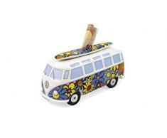 Brisa VW Collection by VW T1 Bus Salvadanaio con Tavola da Surf (1:18) - Flower Power