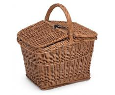 Prestige Wicker - Cestino da picnic in vimini, vuoto, naturale, 40 x 30 x 47 cm