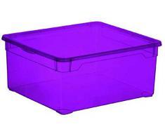Sundis Clearbox - Maxi Scatola Portaoggetti Plastica, Plastica, Violet, 18L