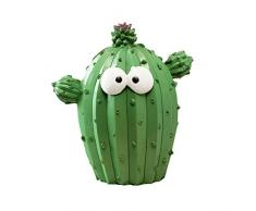 VOSAREA Salvadanaio a forma di cactus creativo, in resina a forma di maialino Bei ricordi per i bambini 1PZ