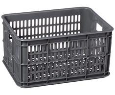 Basil Crate S - Cesto grande per bicicletta, grigio