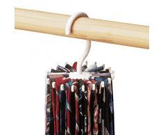 Gleader Portacravatte giravole supporto cravatta organizzatore cravatta