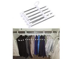 Polly Online Acciaio Inossidabile Pantaloni Appendiabiti Rack per Pantaloni Appendini per Armadio 1PCS