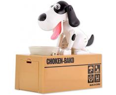 VISKEY - Salvadanaio a Forma di Cagnolino mangiamonete, Spotted Dog-1