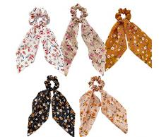 Sciarpe per capelli elastici per capelli fascia elastica per capelli porta coda di cavallo elastica accessori per capelli(5 pezzi)