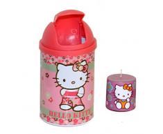 Hello Kitty Cestino getta carte da scrivania Waterig + candela profumata (rosa/verde)