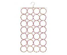 Ardentity Porta Foulard, Porta Sciarpe con 28 Fori per Asciugamano Foulard, Ideale Come Supporto e Organizzatore per Sciarpe