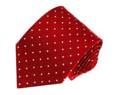 LORENZO CANA - elegante portacravatte con pois marchi, Business e seta cravatta in marchi 100% Seta rosso