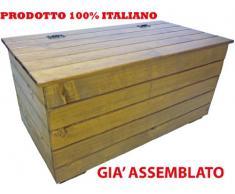 Cassapanca Mobile Baule Box Panca in legno marrone noce porta oggetti biancheria legna giocattoli utensili