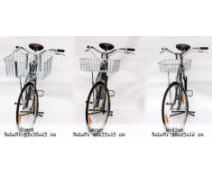 Wald 157B di consegna-Cestino per bicicletta, 53,34 (21 cm x cm x 38,10 (15 22,86 (9 cm, cromato