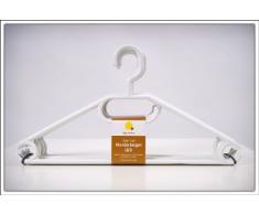 Weber - 50 grucce appendiabiti in plastica, con tacche antiscivolo, produzione tedesca, colore: Bianco