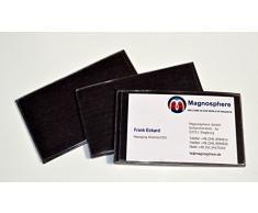Porta etichette magnetico per scaffalature, Dimensioni: 10cm x 6cm - 25 pezzi, Buste e tasche magnetiche