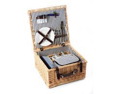 Greenfield Collection nbsp;– Cestino da picnic in vimini, colore: marrone
