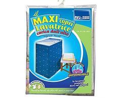 Coprilavatrice con carica dall'alto, coprilavatrice caricamento dall'alto, telo proteggi lavatrice, coprilavatrice universale con cerniera in resistente PVC, impermeabile, colore blu, art.282