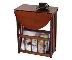 Tavolino Salotto Tavolini Tavolo Portagiornali Portariviste Portineria Piccola Scrivania Noce di Pino 51 * 36 * 45cm Tingting (Colore : Noce)