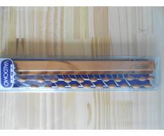 Valdomo Portacravatte Lusso Portacravatte, 21 Posti, Legno, Noce, 40 x 13.5 x 4 cm