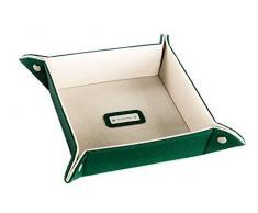 Svuotatasche RENATO BALESTRA piattino poggia oggetti in similpelle verde K200