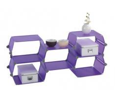 Wenko Honey 2560330100 Scaffalatura con 5 ripiani a nido dape, 52x120x30,5 cm, colore: Lilla