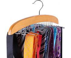 Portacravatte in legno per 24 cravatte, Ohuhu Singolo Gancio Lega Gancio di Legno Naturale Organizzatore Rack, la Scelta Migliore Per il Vostro Organizzatore Del Vestiario