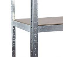 2 Bay galvanizzate scaffali scaffalature garage 175 kg per ripiano (5 livelli 1800 mm altezza x 900 mm larghezza x 400 mm D) + colore consegna il giorno successivo