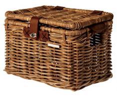 Basil Denton - Cestino anteriore per bicicletta, in rattan, Marrone (Marrone naturale), L