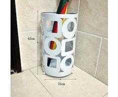 WSWJJXB Creativo portaombrelli Hotel Lobby casa Semplice Ombrello in Ferro battuto Ombrello barile Secchio di stoccaggio Stand-Stand Ombrello (Colore : Nero)