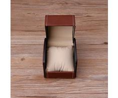 ZOOMY Luxury Watch Box in Similpelle con portacravatte per Cuscino