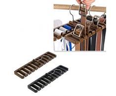 Vosarea Porta Cravatta da Armadio con Gancio e Anello per Cinture Sciarpe Scialli 2 Pezzi