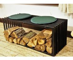 Cesto per legna acquista cesti per legna online su livingo - Portalegna da interno ...