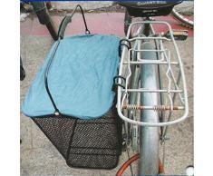 Filmer - Cestino per bicicletta laterale da appendere al portapacchi, con coperchio